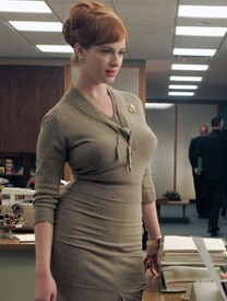 e6b7ed74146a48 The female character I've enjoyed most so far is Joan, the office manager  and red-head sex-pot played superbly by Christina Hendricks, ...
