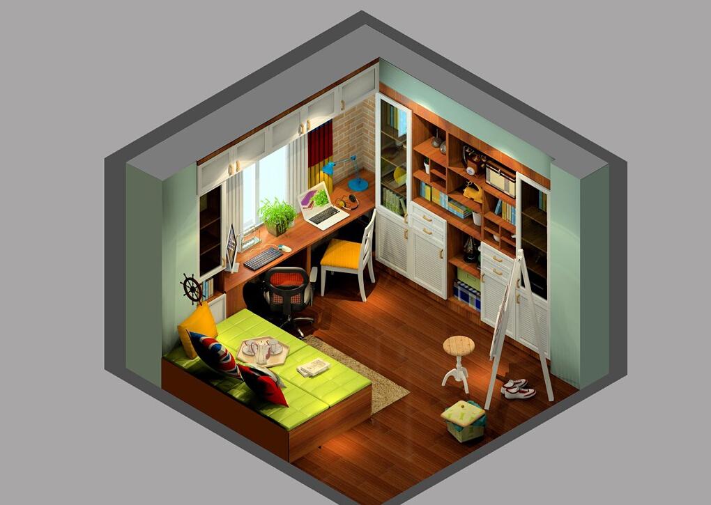 Sky-view-of-UK-nostalgic-style-study-renovation 35 Sky View 4D American House Plan Styles Interior
