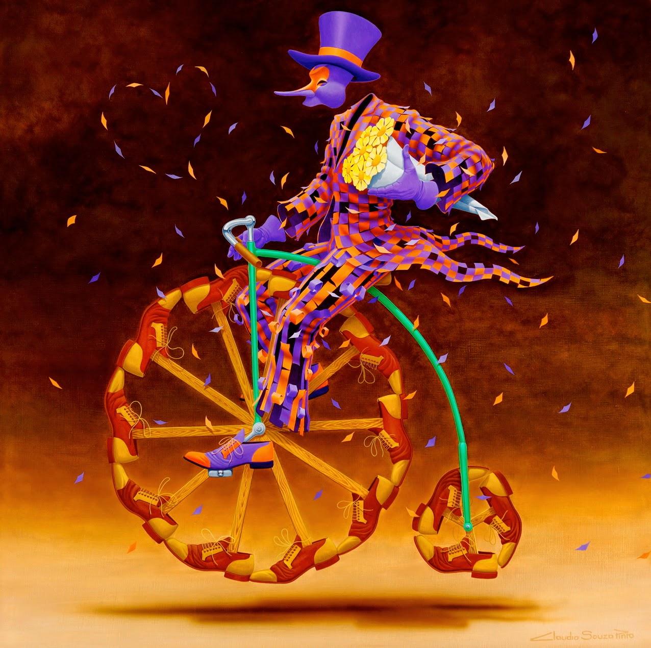 Flores - Claudio Souza Pinto e suas pinturas cheias de cor e criatividade