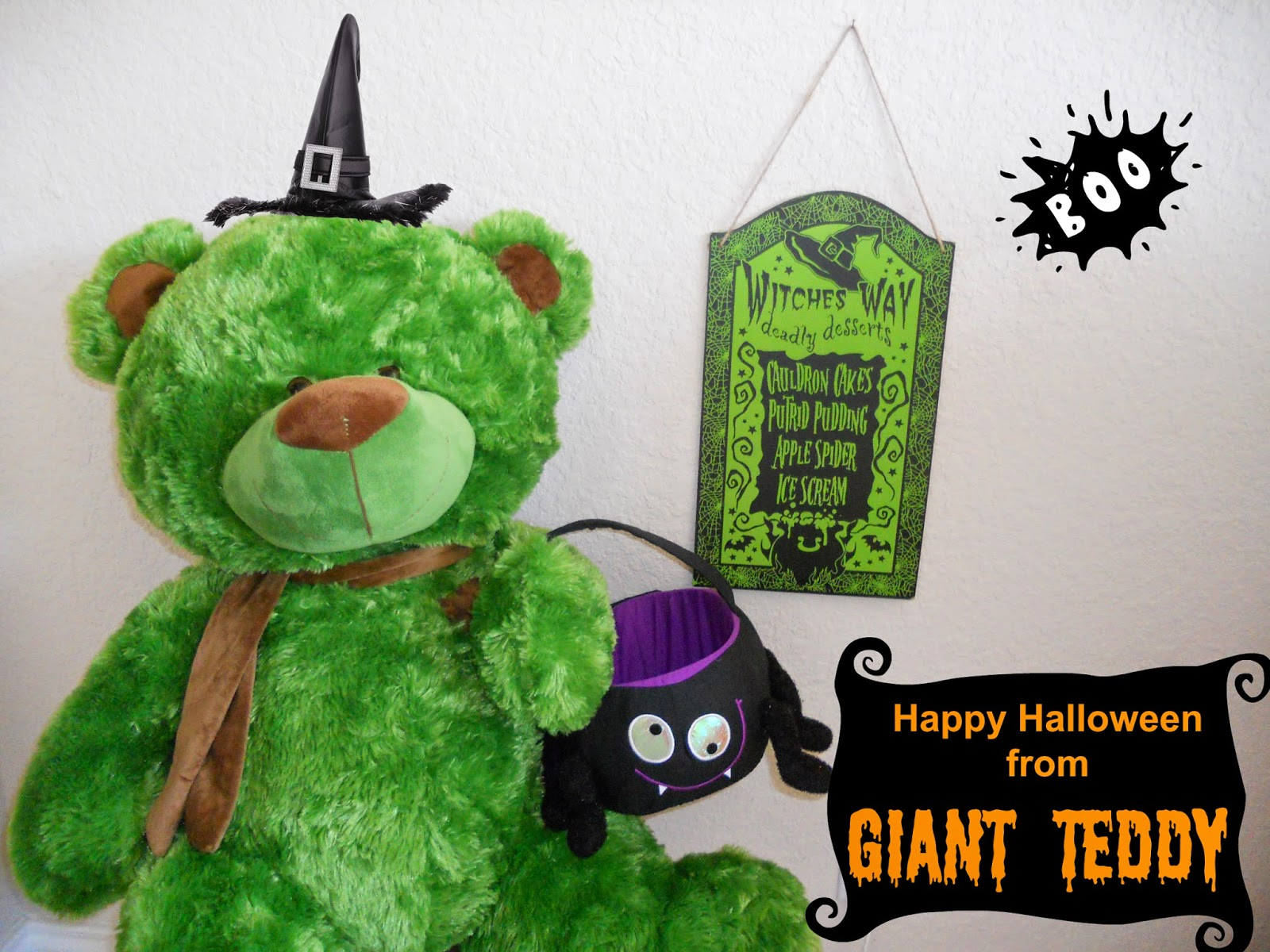 Everyone is thankful for life-size green teddy bears