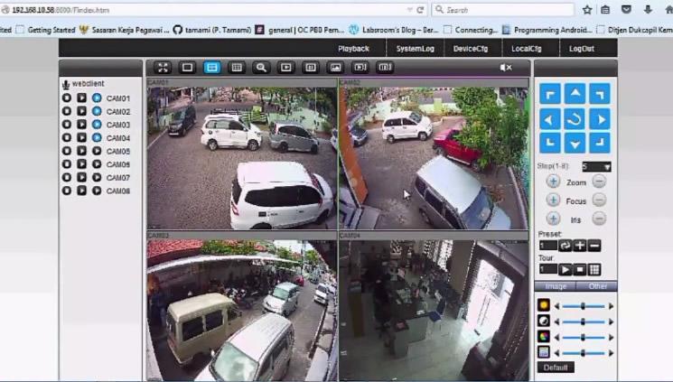 setting camera cctv