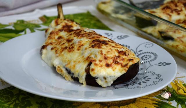 Berenjenas a la boloñesa gratinadas