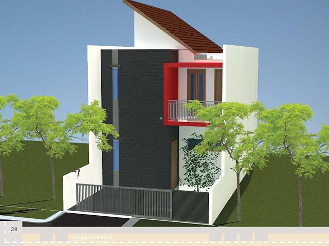 Desain Rumah Luas Bangunan 70 s d 80 meter persegi 2 Lantai