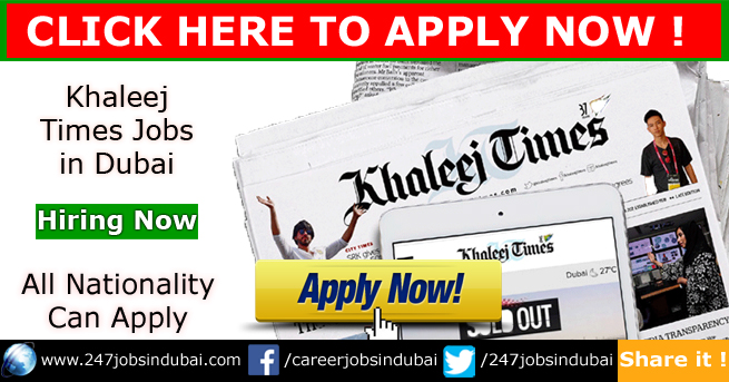 Jobs in Khaleej Times and Careers for Freshers