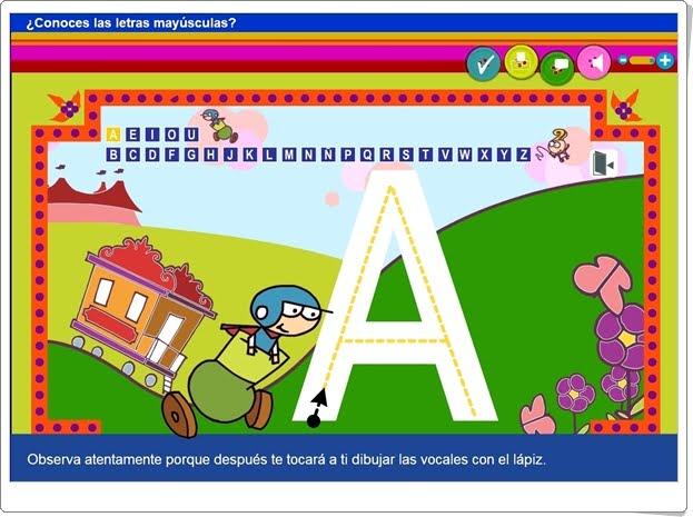 """""""¿Conoces las letras mayúsculas?"""" (Aplicación interactiva de Lectoescritura)"""