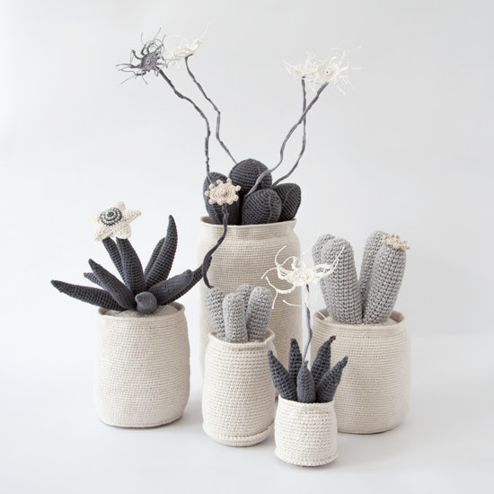 Safari Fusion blog | Crochet Cactus | Hand knitted cotton cactus, succulent and euphorbia pot plants by Safari Fusion