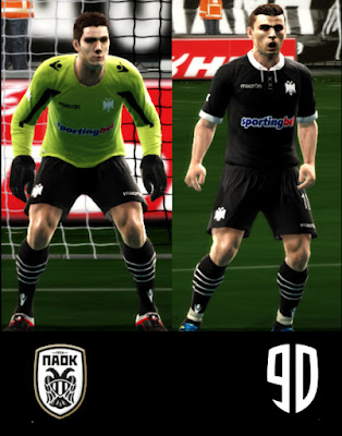 PES 2013 PAOK FC 90 YEARS CENTENARY KIT ARGY