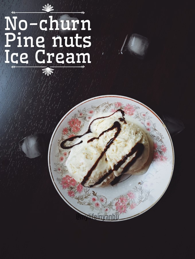 Pine Nuts No-Churn Ice Cream | Just Two Scoops