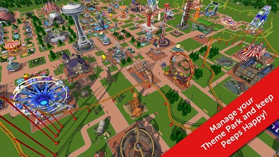 Download game android mod RollerCoaster Tycoon Touch apk