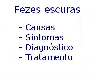 Fezes escuras causas sintomas diagnóstico tratamento prevenção