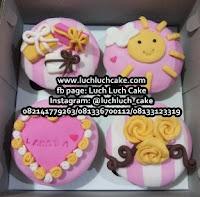 Cupcake Ulang Tahun Hias Fondant 2D