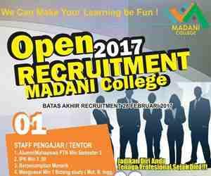 Lowongan Kerja Staff Pengajar (Tentor) di Madani College
