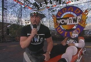 WCW Road Wild 1998: Scott Steiner (w/ Buff Bagwell) tries to get out of his match with Rick Steiner