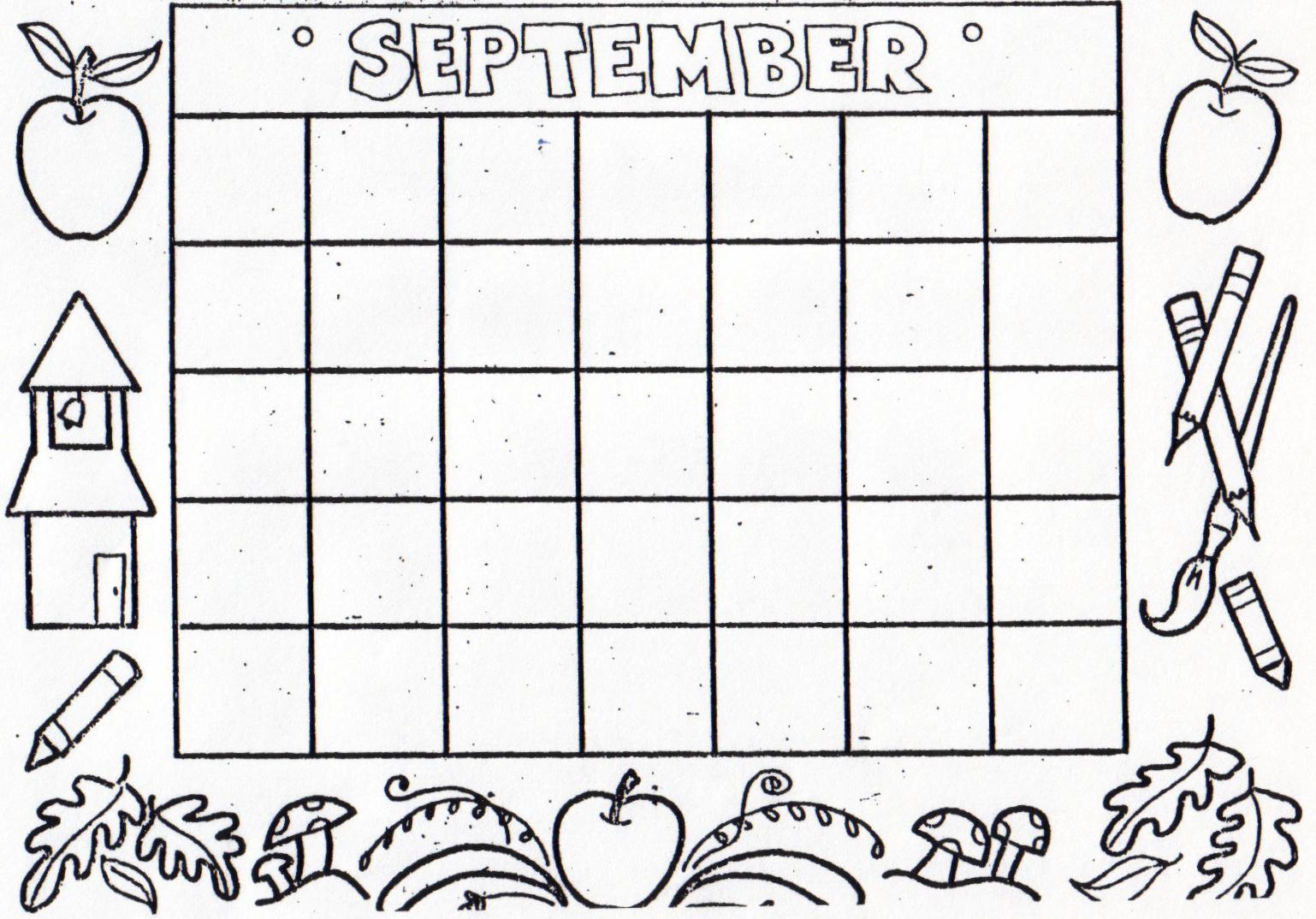 Search Results For Kindergarten Fill In Calendar Template Calendar