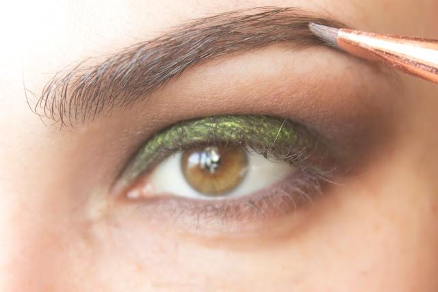 Макияж глаз с зелёным акцентом: шаг 8