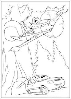 Ausmalbilder Planes Disney zum Drucken