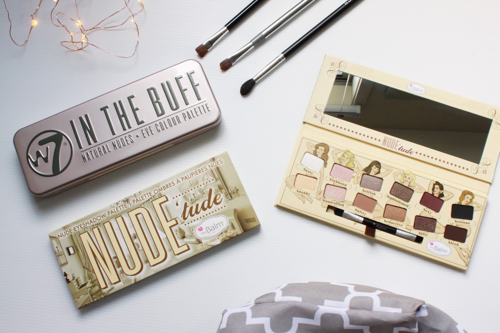 W7 Cosmetics In the Buff and theBalm Nude Tude