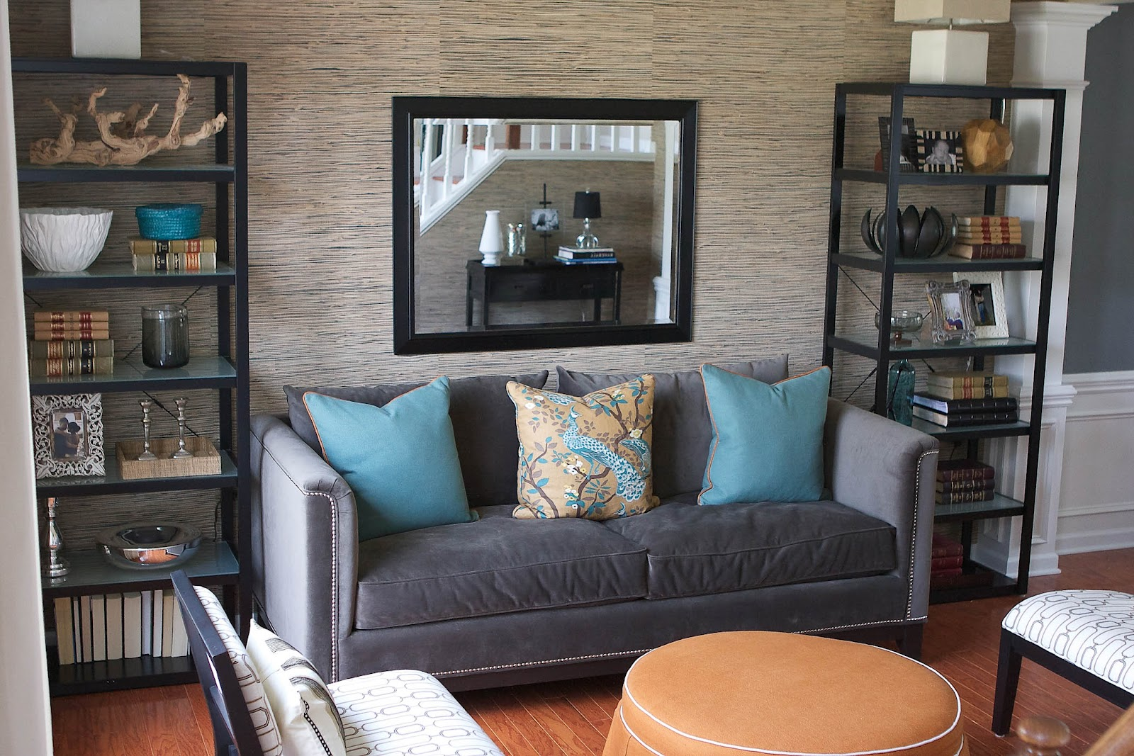 Bryn Alexandra: Grasscloth Living Room Project