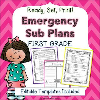 substitute plan templates