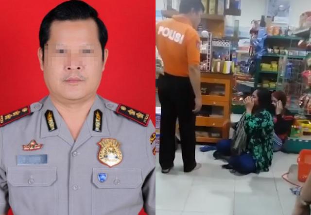 Akhirnya Oknum Polisi yang Tendang Ibu-ibu di Minimarket Dimutasi, Kapok!