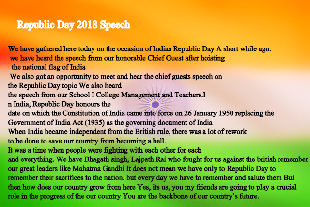 republic day speech 26 january 2018 speech in hindi and happy republic day 2018 speech in english for teachers get 26 january republic day 2018 images poems essay lines.