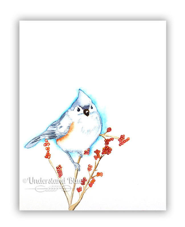 Watercolor Titmouse by Understand Blue