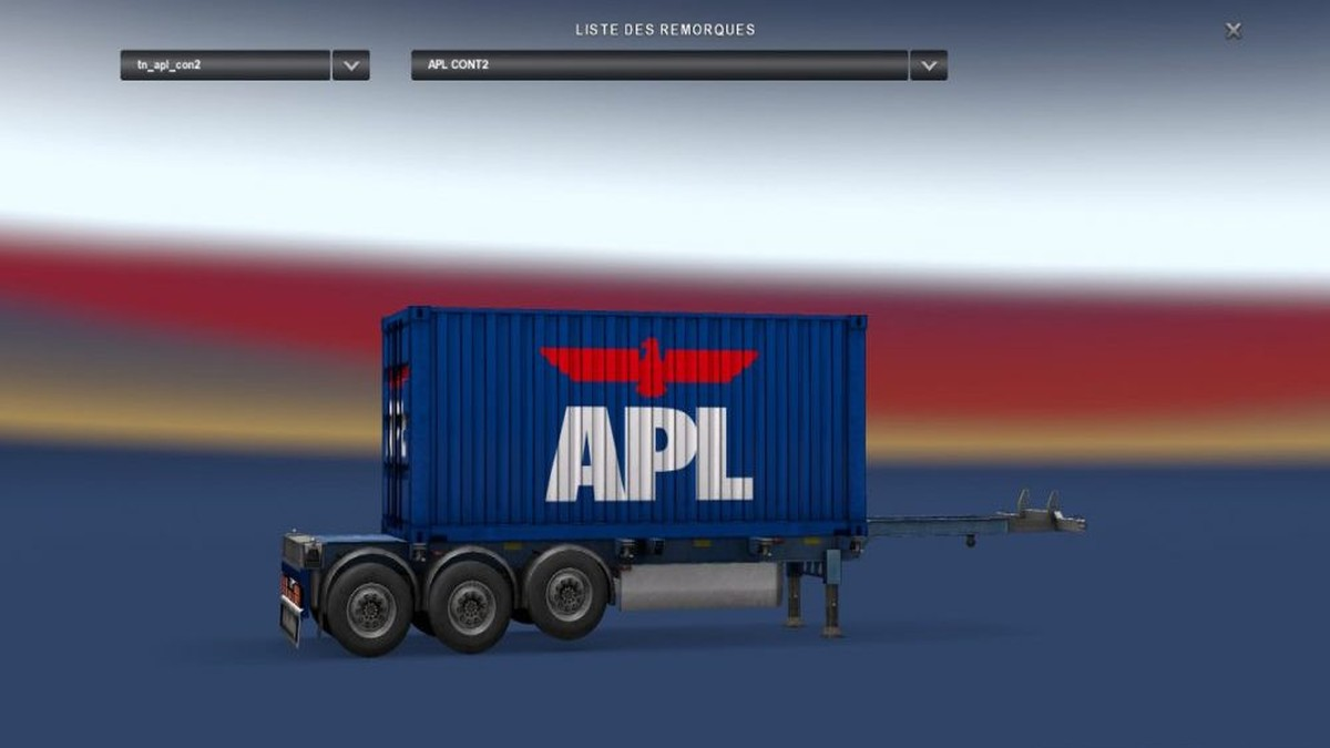 APL Blue Container Trailer
