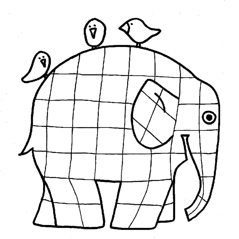elephant coloring pages for preschool - photo#28