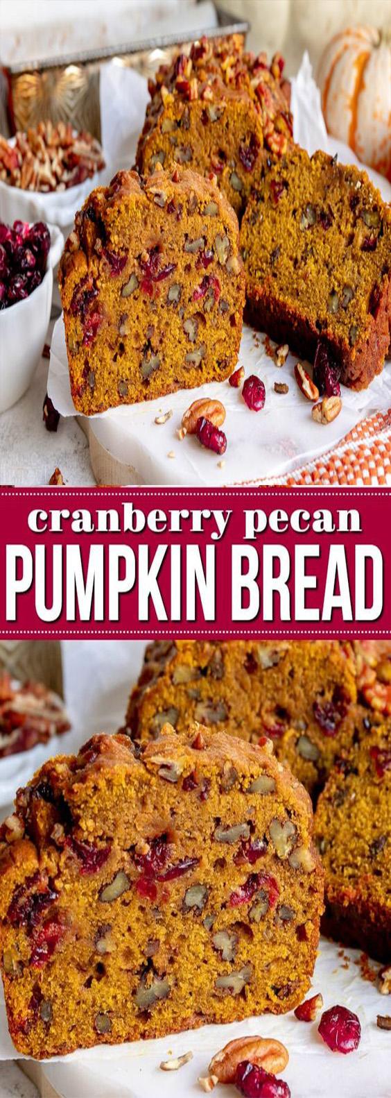 Cranberry Pecan Pumpkin Bread