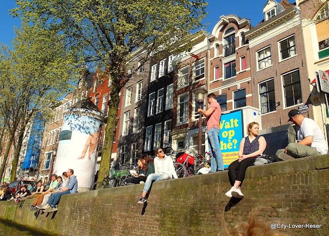 Sunny dag in Amsterdam