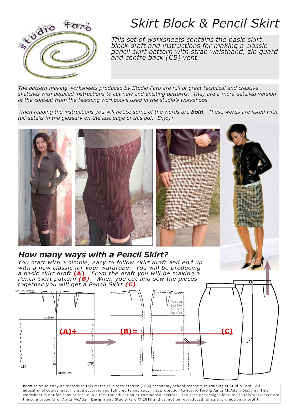 Well Suited Skirt Draft And Pencil Skirt Pattern Worksheet