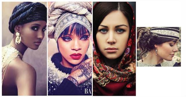 Coiffure protectrice avec un foulard