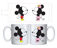 Estampa para Caneca Vetor gratis Mickey Minnie