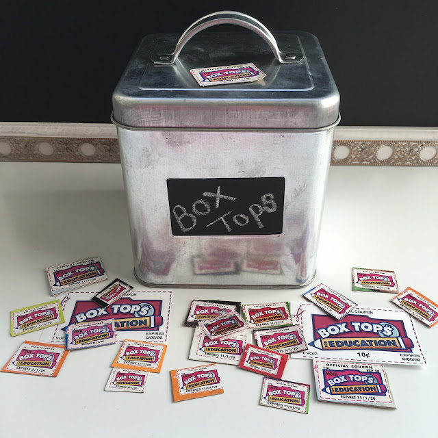 Love this cute little canister for collecting Box Tops!