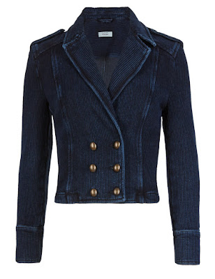 Marks and Spencer Pure Cotton Textured Jacket with Buttonsafe