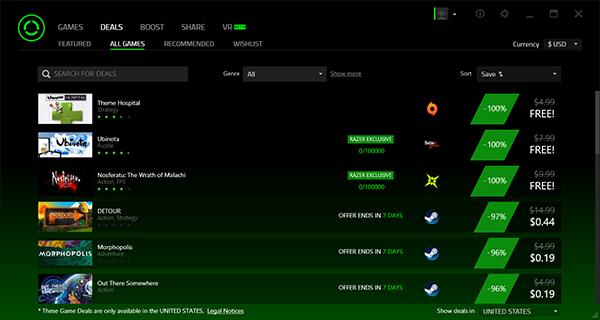 برنامج  Razer Game Booster