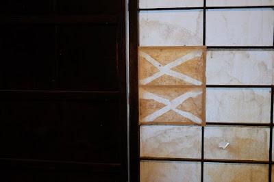 生坂 古民家カフェ・ひとつ石 木枠をアルミ枠に変える
