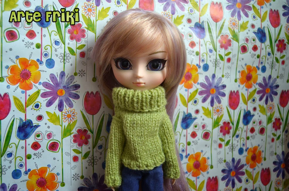 pullip banshee muñeca doll jersey sweater punto crochet tricot knitting ganchillo