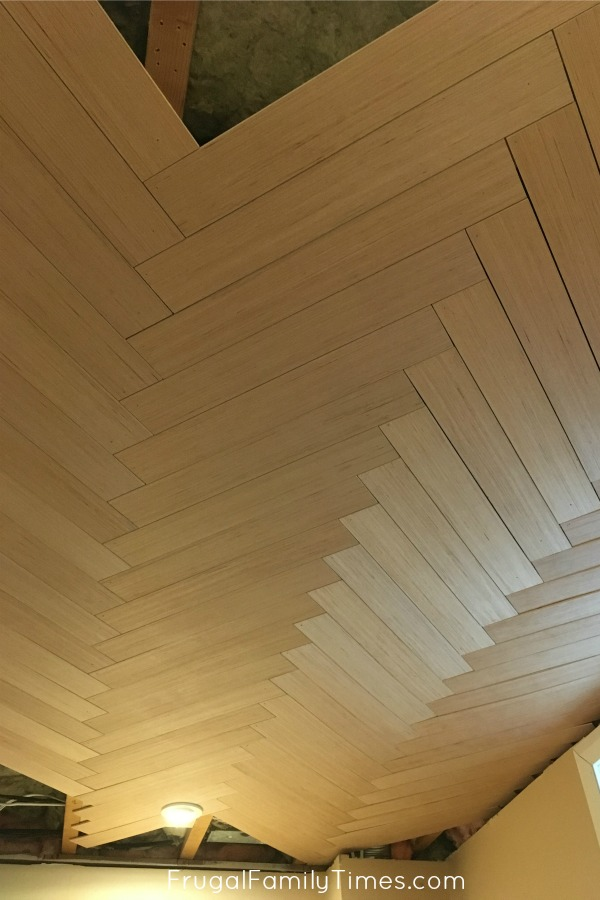 herringbone ceiling finishing edgs