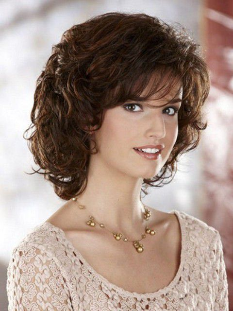 Crinkly Hair Styles: Medium Length Curly Hairstyles For Round Faces