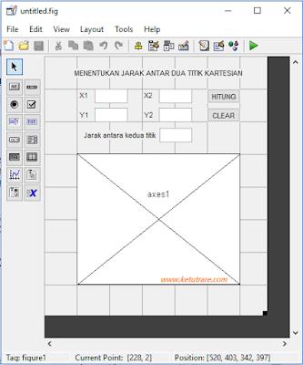 Contoh Aplikasi Menghitung Jarak Antar Dua Titik Menggunakan MATLAB