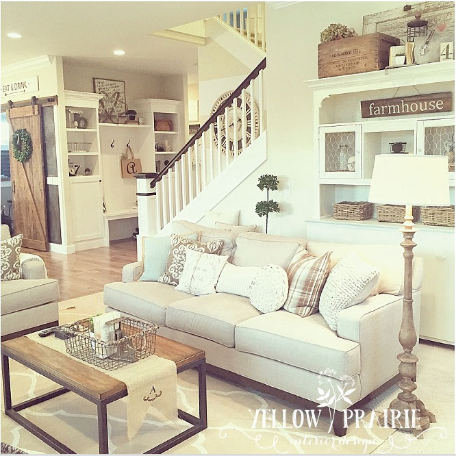This Was My Inspiration For Creating Farmhouse Style Mood Board I Stumbled Upon Yellow Prairie Interiors On Pinterest And Im In Love With Her