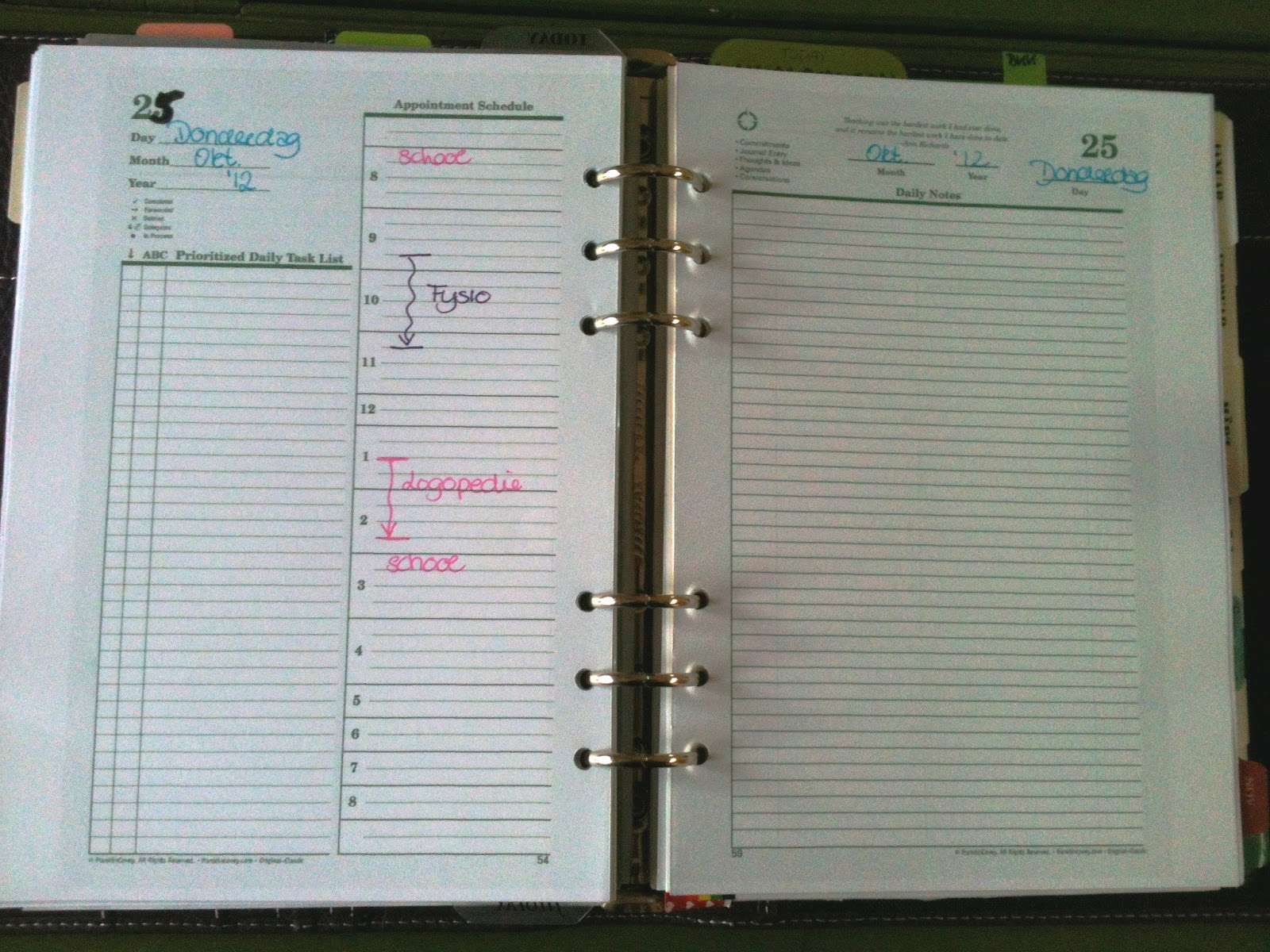 Franklin Covey Sample Pages In A5 Filofax
