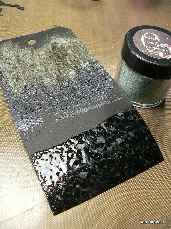 Wipe Black G Over Textured Painting Canvas