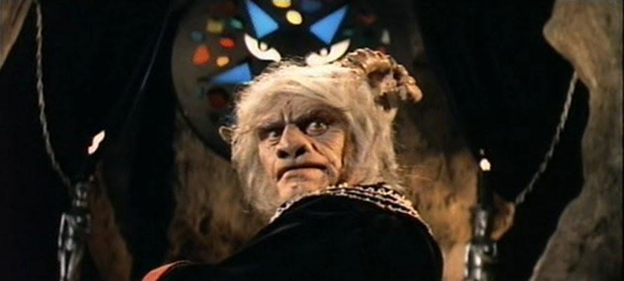 Ernest Borgnine en una secuencia de La Lluvia del Diablo
