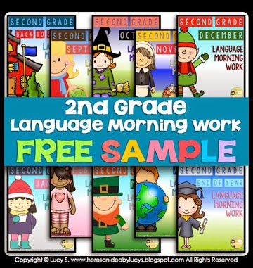 FREE Second Grade Language Morning Work Bundle Sample