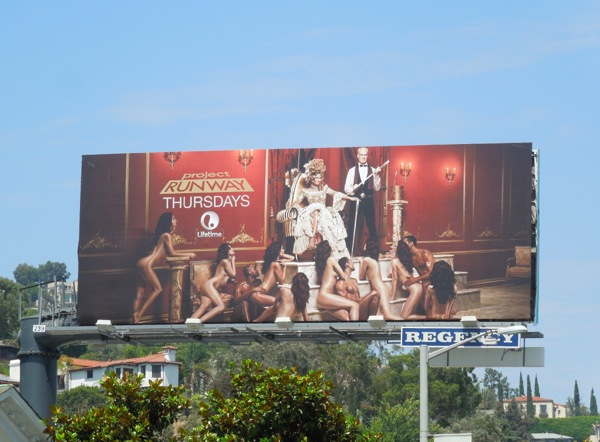 banned season 12 Project Runway billboard