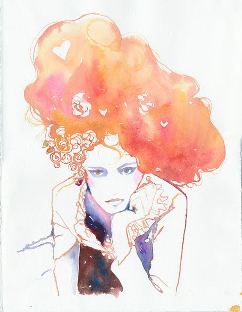 Doctor Ojiplático. Cate Parr. Fashion Watercolor