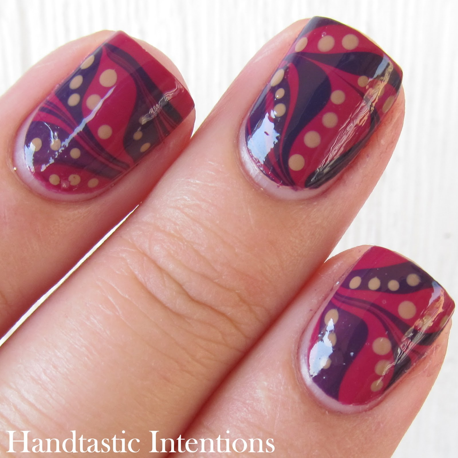 Handtastic Intentions: Nail Art: #31DC2014 Day 20 Water Marble
