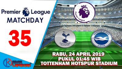 Prediksi Bola Tottenham Hotspur vs Brighton Albion 24 April 2019